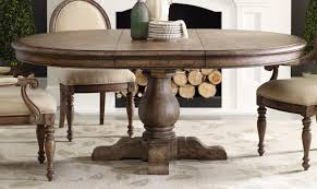 Pedestal Dining Table Expanding Round Table With Self Storing Leaves Solid Walnut Table