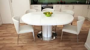round glass extendable dining table: round extendable dining table for modern kitchen