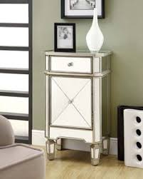 monarch mirrored furniture accent cabinets bedside chest table nightstand priced 34149 added drama mirrored bedroom furniture