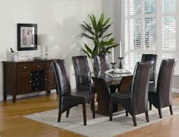 unique dark furnished wooden dining table legs