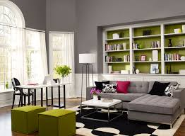 decorating living room interior paint color schemes with white color interior decorating ideas design gray wooden floor fitted sofa two seater black green black green living room home