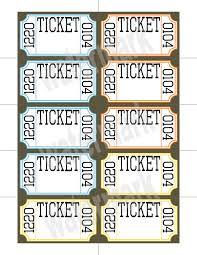raffle ticket printable