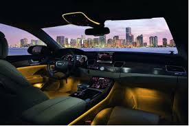 ambient lighting in the audi a8 ambient interior lighting