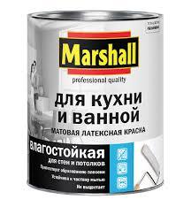 <b>Краска</b> в/<b>д MARSHALL</b> для <b>кухни</b> и ванной BW 0,9л - купить в ...