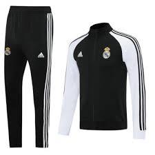 * 2020-21 <b>Real Madrid Black White</b> Jacket training suit - $40.00 ...