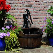 Fontana Cascata Da Giardino : Ubbink fontana da giardino con barile di legno
