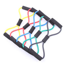 <b>8</b> Shaped Fitness Stretch Exercise Resistance Band <b>8 Word Chest</b> ...