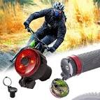 <b>Mini Bicycle Handlebar End</b> Rearview Mirror with 3 Modes Warning ...