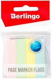 <b>Berlingo Флажки</b>-<b>закладки</b> 12 х 50 мм, 100 листов х <b>4</b> пастельных ...
