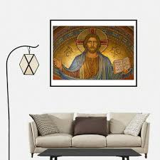 <b>Jesus Christ Canvas Art</b> Painting Poster Living Room Picture Wall ...