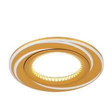 Точечный <b>светильник Gauss Aluminium AL015</b> Круг. Золото/Хром ...