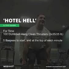 """Hotel <b>Hell</b>"" Workout, CrossFit WOD 