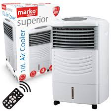 Marko Electrical Air Cooler with <b>Remote Control</b> Cold Fan Timer ...