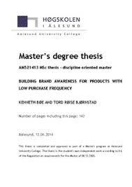 Master thesis bibsys brage