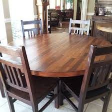 7ft dining table: hand crafted  inch plank top dining table
