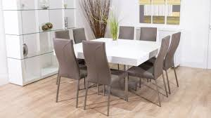 Square Dining Room Table With 8 Chairs 8 Person Dining Table Set All Old Homes
