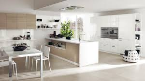 Fascinating Kitchen Layout Design With White Gloss Cabinet Storage - Dining room cabinets for storage