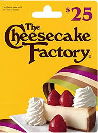 The Cheesecake Factory Gift Card $25: Gift Cards - Amazon.com