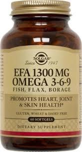 <b>Solgar Efa</b> Omega-3-6-9, <b>1300mg</b>, 60ct - Walmart.com - Walmart.com