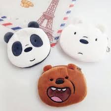 1 pc <b>2019</b> new <b>cute</b> Three Bare bear Coin <b>Purse</b> Three bear Doll ...