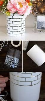 easy home decor idea:  diy white brick vase diy home decor ideas on a budget click for tutorial