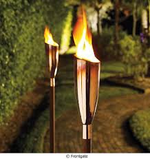 outdoor torch lighting. another choice is garden torches these are perfect for lighting a dark walkway or driveway frontgateu0027s pisa torch an elegant copper fixture using outdoor nyiadedu