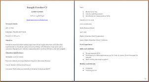cv formats samples for students event planning template comsample resume format for students