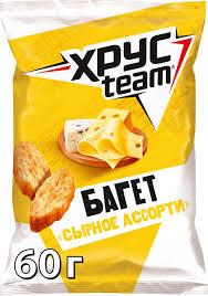 <b>Хрусteam Багет сухарики</b> Сыр, 60 г — купить в интернет ...