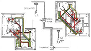 wiring light switch or dimmer two way staircase switch wiring diagram