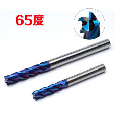 HRC65 Degree Extended Shank Flat End <b>Milling Cutter</b> 4 Blades ...