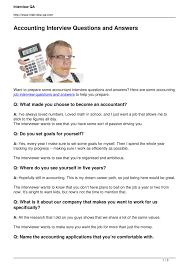 accounting interview questions and answers pdf docdroid