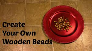 Create your own <b>wooden beads</b> - YouTube