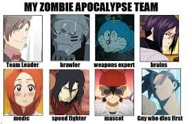 My Zombie Apocalypse team meme by tunaniverse on DeviantArt via Relatably.com