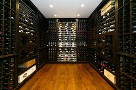 comfortable wine cellar design in large space using wooden flooring and wooden shelving decoration ideas inspiration box version modern wine cellar furniture