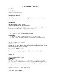 doc example profile in resume com resume sample profile example middot doc 12401754 excellent accounting personal statement