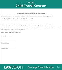 child travel consent form minor travel consent letter us child travel consent sample