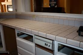 Kitchen Tile Countertop Remodelaholic Quick Install Of Concrete Countertops Kitchen