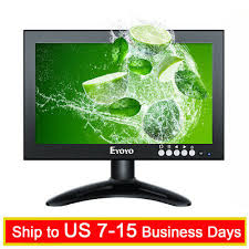 "<b>Eyoyo 8</b>"" IPS LCD HDMI Monitor VGA/AV/BNC Input For PC CCTV ..."