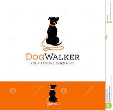 logo design for dog walking or training stock vector image  logo design for dog walking or training
