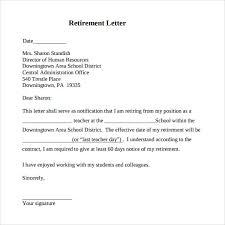 sample retirement letter pdf resignation retirement letter