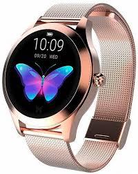 Смарт-<b>часы Kingwear KW10</b> Rose Gold/Steel strap купить ...