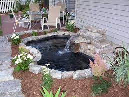 diy patio pond: koi pond with water fountain  wonderful outdoor diy