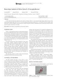 (PDF) Karyotype analysis of Silene behen L. (Caryophyllaceae)
