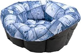 <b>Ferplast</b> Siesta Deluxe <b>Sofa</b> Pet Dog Bed <b>Cushion</b> Size <b>4</b> Denim ...