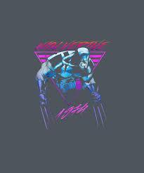 <b>Marvel X</b>-<b>men Wolverine</b> Neon <b>Retro</b> Logan Graphic T-shirt Digital ...
