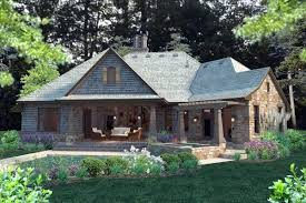 House Plan at FamilyHomePlans comCottage Craftsman French Country House Plan Rear Elevation