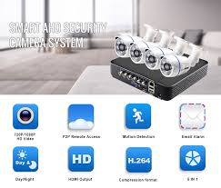 Smar 4CH CCTV HDMI DVR 4PCS <b>720P 1080P AHD Camera</b> Kit ...