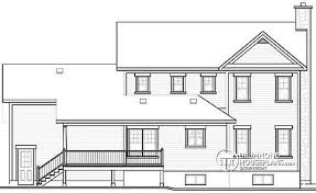 House plan W A detail from DrummondHousePlans com    rear elevation storey Farmhouse house plan  sunroom  double garage  bedrooms possible