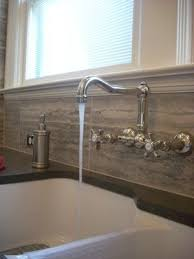 kitchen faucets wall mount: i like the idea of the detached faucet old style needs to be higher up in the kitchen tho a wall mount traditional style faucet looks great with a white