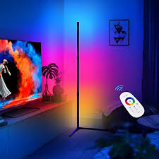 CRAZCALF Corner Floor Lamp RGB <b>Color</b> Changing Floor Lamp ...